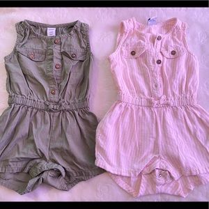 Old navy 3-6 months rompers